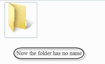 Now the folder has no name