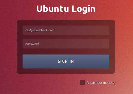 Ubuntu Login